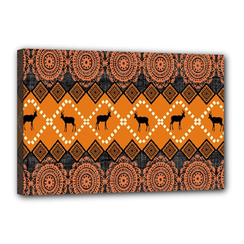 Traditiona  Patterns And African Patterns Canvas 18  X 12