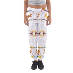 Zodiac  Institute Of Vedic Astrology Women s Jogger Sweatpants by Onesevenart