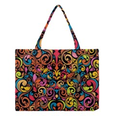 Art Traditional Pattern Medium Tote Bag by Onesevenart