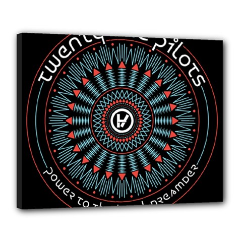 Twenty One Pilots Canvas 20  X 16  by Onesevenart
