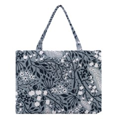 Abstract Floral Pattern Grey Medium Tote Bag by Mariart
