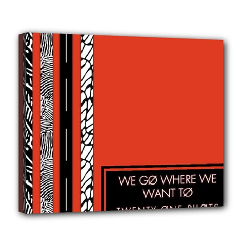 Poster Twenty One Pilots We Go Where We Want To Deluxe Canvas 24  X 20   by Onesevenart