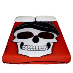 Poster Twenty One Pilots Skull Fitted Sheet (california King Size) by Onesevenart