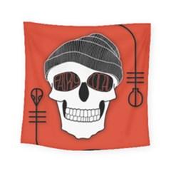 Poster Twenty One Pilots Skull Square Tapestry (small) by Onesevenart