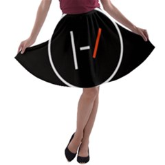 Twenty One Pilots Band Logo A Line Skater Skirt by Onesevenart