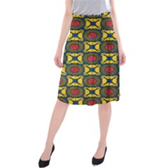 African Textiles Patterns Midi Beach Skirt by Mariart