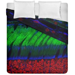 Cells Rainbow Duvet Cover Double Side (california King Size) by Mariart