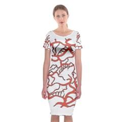 Twenty One Pilots Tear In My Heart Soysauce Remix Classic Short Sleeve Midi Dress by Onesevenart