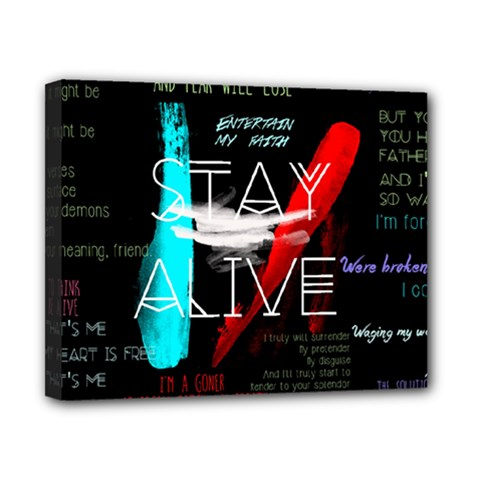 Twenty One Pilots Stay Alive Song Lyrics Quotes Canvas 10  X 8  by Onesevenart