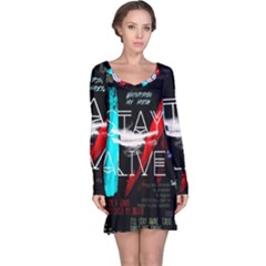 Twenty One Pilots Stay Alive Song Lyrics Quotes Long Sleeve Nightdress by Onesevenart