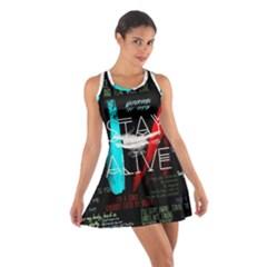 Twenty One Pilots Stay Alive Song Lyrics Quotes Cotton Racerback Dress by Onesevenart