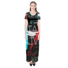 Twenty One Pilots Stay Alive Song Lyrics Quotes Short Sleeve Maxi Dress by Onesevenart