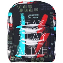 Twenty One Pilots Stay Alive Song Lyrics Quotes Full Print Backpack by Onesevenart