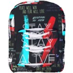 Twenty One Pilots Stay Alive Song Lyrics Quotes Full Print Backpack