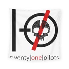 Twenty One Pilots Skull Square Tapestry (small) by Onesevenart