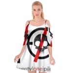 Twenty One Pilots Skull Cutout Spaghetti Strap Chiffon Dress