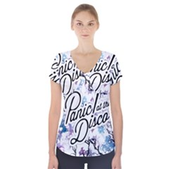 Panic! At The Disco Short Sleeve Front Detail Top by Onesevenart