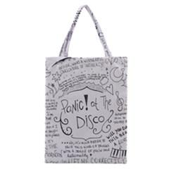 Panic! At The Disco Lyrics Classic Tote Bag by Onesevenart