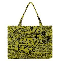 Panic! At The Disco Lyric Quotes Zipper Medium Tote Bag by Onesevenart