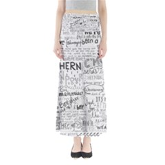 Panic At The Disco Lyrics Full Length Maxi Skirt by Onesevenart