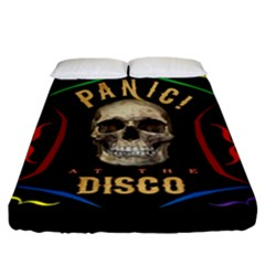 Panic At The Disco Poster Fitted Sheet (california King Size) by Onesevenart