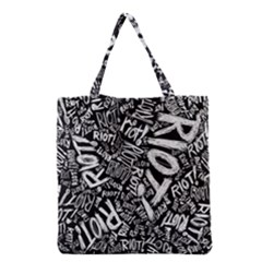 Panic At The Disco Lyric Quotes Retina Ready Grocery Tote Bag by Onesevenart