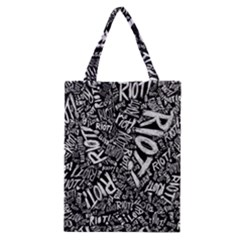 Panic At The Disco Lyric Quotes Retina Ready Classic Tote Bag by Onesevenart