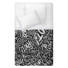 Panic At The Disco Lyric Quotes Retina Ready Duvet Cover (single Size) by Onesevenart