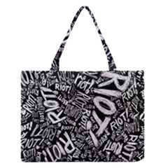 Panic At The Disco Lyric Quotes Retina Ready Zipper Medium Tote Bag by Onesevenart