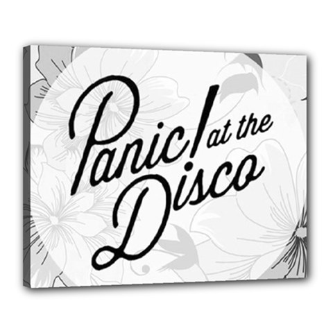 Panic At The Disco Flowers Canvas 20  X 16  by Onesevenart