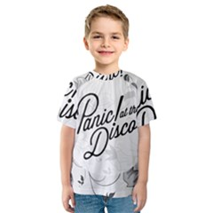 Panic At The Disco Flowers Kids  Sport Mesh Tee by Onesevenart