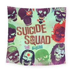 Panic! At The Disco Suicide Squad The Album Square Tapestry (large) by Onesevenart