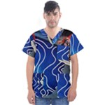 Panic! At The Disco Released Death Of A Bachelor Men s V-Neck Scrub Top