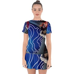 Panic! At The Disco Released Death Of A Bachelor Drop Hem Mini Chiffon Dress by Onesevenart