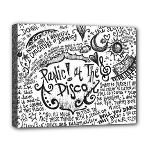 Panic! At The Disco Lyric Quotes Deluxe Canvas 20  X 16   by Onesevenart