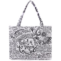Panic! At The Disco Lyric Quotes Mini Tote Bag by Onesevenart