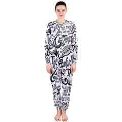 Panic! At The Disco Lyric Quotes Onepiece Jumpsuit (ladies)  by Onesevenart