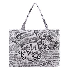 Panic! At The Disco Lyric Quotes Medium Tote Bag by Onesevenart