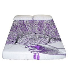 Panic At The Disco Fitted Sheet (california King Size) by Onesevenart