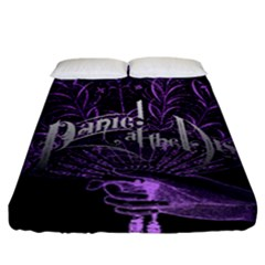 Panic At The Disco Fitted Sheet (king Size) by Onesevenart