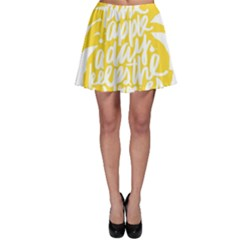Cute Pineapple Yellow Fruite Skater Skirt by Mariart