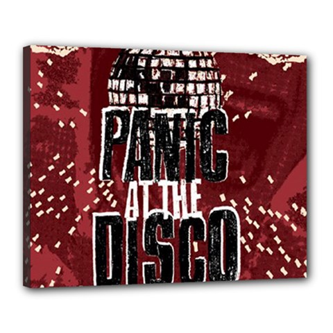 Panic At The Disco Poster Canvas 20  X 16  by Onesevenart