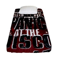 Panic At The Disco Poster Fitted Sheet (single Size) by Onesevenart