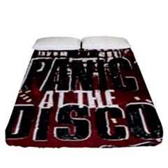 Panic At The Disco Poster Fitted Sheet (king Size) by Onesevenart