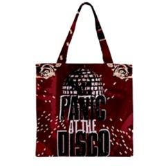 Panic At The Disco Poster Zipper Grocery Tote Bag by Onesevenart