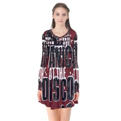 Panic At The Disco Poster Flare Dress by Onesevenart