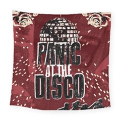 Panic At The Disco Poster Square Tapestry (large) by Onesevenart