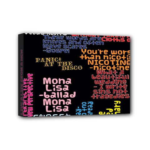 Panic At The Disco Northern Downpour Lyrics Metrolyrics Mini Canvas 7  X 5  by Onesevenart