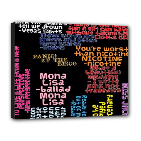 Panic At The Disco Northern Downpour Lyrics Metrolyrics Canvas 14  X 11  by Onesevenart