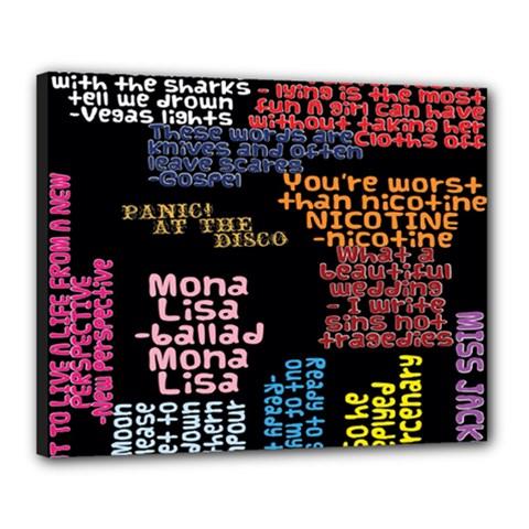 Panic At The Disco Northern Downpour Lyrics Metrolyrics Canvas 20  X 16  by Onesevenart